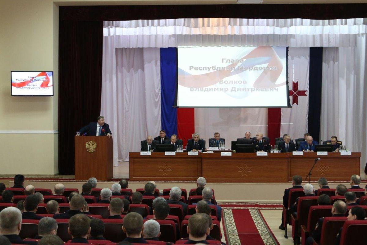 Глава Мордовии Владимир Волков принял участие в итоговой коллегии МВД республики