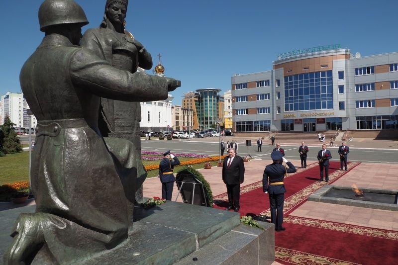 В Саранске состоялась траурная церемония, посвященная 79-й годовщине начала Великой Отечественной войны